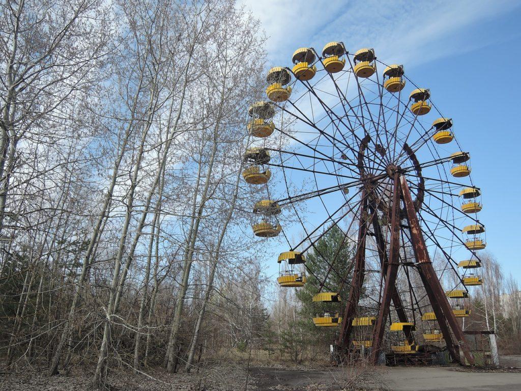 pixabay afbeelding van het reuzenrad in tsjernobyl