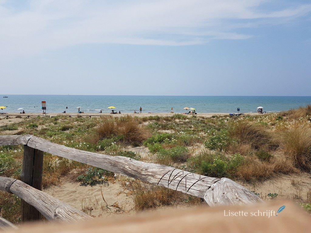 Het strand bij Calambrone