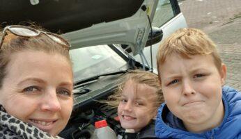 Autopech alleen reizen met kinderen